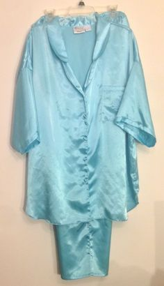 4dc67ac392 2 Piece Size 2X Pajama Set Robins Egg Blue Long Pant PJ Maryanns Boutique   MaryannsBoutiqueWoman