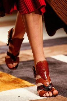 Salvatore Ferragamo's mixed-leather sandals