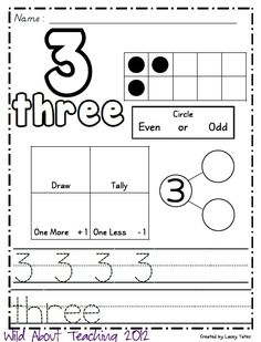 Wild about Teaching!: Numbers 0-20-FREEBIE!