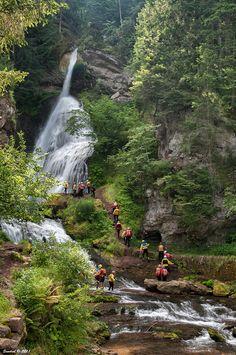 Waterfall of Cavalese (Trento),Val di Fiemme, Trentino-Alto Adige, Italy