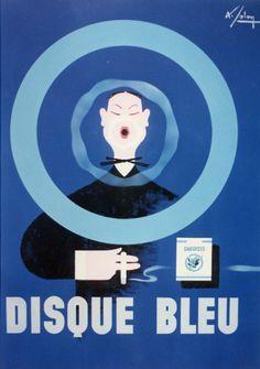Albert Solon active 1924-74. Gauloises, disque bleu