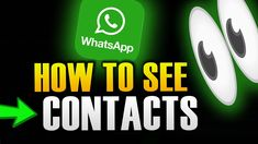HOW TO SEE CONTACTS IN WHATSAPP Tech, Youtube, Technology, Youtubers, Youtube Movies
