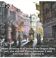 Aww if my imagination became a real thing I could see before my eyes I would probably cry too Harry Potter Facts, Harry Potter Love, Harry Potter Universal, Harry Potter Fandom, Harry Potter World, Slytherin, Hogwarts, Yer A Wizard Harry, Diagon Alley
