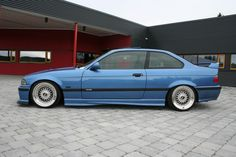 Estoril blue BMW e36 on 17'' BBS RS wheels (8,5x17 stepped up from 16'' BBS RS centers)