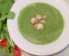 Radish Greens Soup recipe.  This one includes some potato, which should make the somewhat bitter greens more palatable for the younger set.