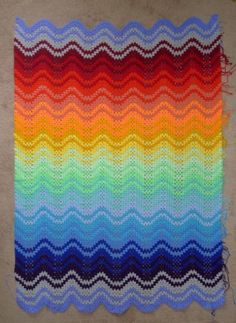 Granny Ripple Blanket - Free Pattern