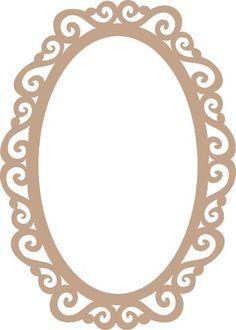 Moldura Para Espelho Estillo Provençal Mdf 3mm 60x40 - R$ 47,70