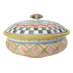 Piccadilly Lidded Bowlderole - Mackensie Childs