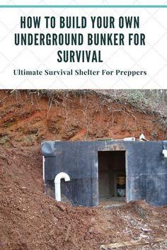 How To Build Your Own Underground Bunker/Root Cellar For Survival. (Survival Shelter.) #PrepperIdeas, #Preppergear, #SurvivalSkills, #SurvivalPrepping, #TheSurvivalistBlog.net #survivalundergroundshelter