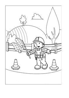 Byggmester Bob Fargelegging for barn. Tegninger for utskrift og fargelegging nº 34