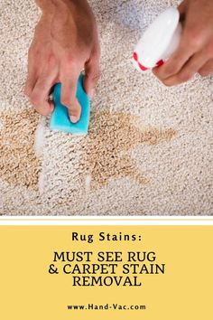 Get carpet stains out with these tips for common stains. Check out the article. Stain Remover Carpet, Removing Carpet, Carpet Stains, Things To Know, Cleaning Hacks, Rugs On Carpet, Upcycle, Household, Crafty