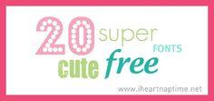 20 fun free cute fonts!
