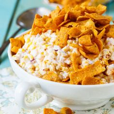Frito Corn Salad - Spicy Southern Kitchen Appetizer Dips, Appetizer Recipes, Snack Recipes, Cooking Recipes, Cake Recipes, Cooking Corn, Picnic Recipes, Picnic Foods, Pork Recipes