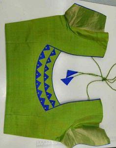 Stylish blouse back neck design blousedesigns - Her Crochet Cutwork Blouse Designs, Patch Work Blouse Designs, Simple Blouse Designs, Stylish Blouse Design, Saree Blouse Neck Designs, Pattern Blouses For Sarees, Blouse Designs Catalogue, Zeina, Designer Blouse Patterns