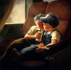 """""""Little Engineers"""" ~ by Artist, Donald Zolan"""