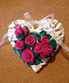 Cuore con rose in fimo