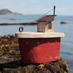 Red Fishing Boat | Model Boat | Decorative Boat