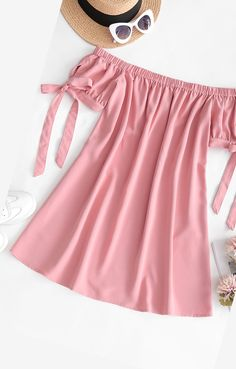 Cute pink summer dress off shoulder Style: Casual Occasion: Casual Material: Polyester Silhouette: A-Line Dresses Length: Mini Collar-line: Off The Shoulder Sleeves Length: Short Sleeves Source by zaful Dresses pink African Dresses For Kids, Little Girl Outfits, Little Girl Dresses, Kids Outfits, Toddler Girl Dresses, Trendy Outfits, Cute Outfits, Girls Fashion Clothes, Fashion Kids