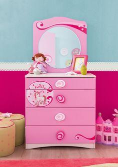 Cilek SL Princess Kommode - Kostenloser Versand innerhalb Deutschlands! -      Rüschensöckchen, Schleifenunterwäsche, glitzernde Hemden und rosafarbene Kleidchen, können in einer ebenso schillernden Kommode angemessen aufbewahrt...#kinder #kinderzimmer #kommode  #cilek