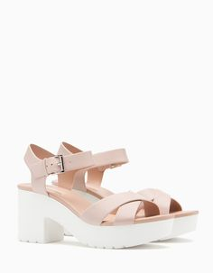 At Stradivarius you'll find 1 High heel track sole sandals for woman for just 3599 РУБ. . Visit now to discover this and more ALL.