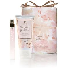 Thymes Goldleaf Gardenia Little Luxuries Gift Set ($30) ❤ liked on Polyvore featuring beauty products, gift sets & kits, thymes and eau de perfume