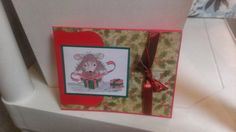 Christmas Mouse Card Handmade Greeting Card by jennrainescreations, $3.75