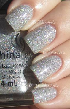 The PolishAholic: China Glaze Holiday 2012 Holiday Joy Collection - Glistening Snow