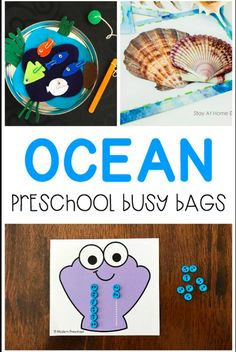 FREE printable seashell pre-writing number tracing cards fit into your ocean & under the sea theme while encouraging number & fine motor in preschool! Fun Activities For Preschoolers, Sea Activities, Gross Motor Activities, Literacy Activities, Preschool 2 Year Old, Preschool At Home, Toddler Preschool, Preschool Math, Sea Animal Crafts