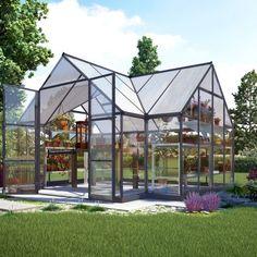 Victorian T-shape 10 x 12 kasvihuone 10 m2 - Landen