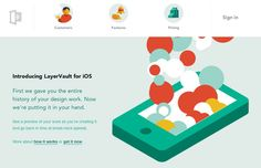 The LayerVault app's site shows how animation can fit into a flat design approach