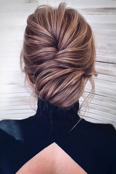 timeless bridal hairstyles textured volume low bun kamalova via instagram