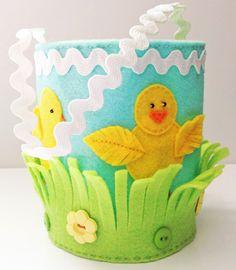 KBB Crafts & Stitches: Felt Easter Peeps Basket