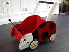 Ladybug Push Cart