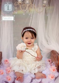 Perfect dress for 1st Birthday pictures, flower girl, tea parties or a day out with family. Picture does not do this chiffon French lace dress