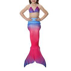 The Little Mermaid Princesa Cauda de Sereia Conto de Fadas Bikini Roupa de Banho Para Meninas Dia Das Bruxas Carnaval Dia da Criança