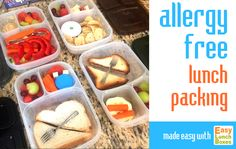 Allergy-free lunch packing is easier with @easylunchboxes