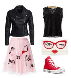 """""""Glam rock """" by anastasiia-loparevich on Polyvore featuring мода, New Look, P.A.R.O.S.H., Kate Spade и Converse"""