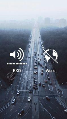 *・☪·̩͙ ·˖ Minha vida resumida em uma foto, pq ouvir EXO é como sair desse mundo turbulento direto para o meu mundo, e acredite no meu mundo toca EXO *・☪·̩͙ ·˖