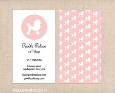 dog grooming business cards full color both by PixelsPrinted