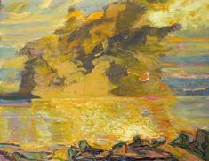 Bernard Chaet | Burnt Sienna Sky, 1999-06, oil on canvas, 30 x 37.75 inches, Courtesy LewAllen Contemporary