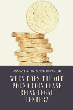 The new 12 sided one pound coin has been in circulation for over six months and the old pound coin is now on borrowed time. So, when does the old pound coin cease being legal tender? One Pound Coin, Legal Tender, Finance Blog, Activity Days, Personal Finance, Frugal, Saving Money, Budgeting, Promotion