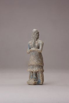 Sumerian Faience Figure Of A STANDING Nobility Epic Of Gilgamesh, Cradle Of Civilization, Ancient Near East, Ancient Mesopotamia, Sumerian, Egypt, Bible, Miniatures, Statue