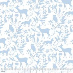 113.108.02.2 Woodland Creatures Blue by designer Ana Davis