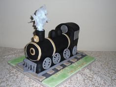 Steam train Cake - Fruit cake covered with fondant. Description from pinterest.com. I searched for this on bing.com/images