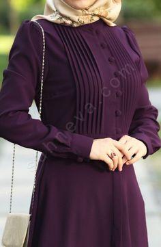 My favorite color 😍 Sleeves Designs For Dresses, Dress Neck Designs, Kurti Neck Designs, Kurta Designs Women, Abaya Fashion, Muslim Fashion, Fashion Cape, Fashion Clothes, Fashion Dresses