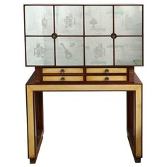 Rosewood Bar Made in Milan, 1935 | From a unique collection of antique and modern dry bars at https://www.1stdibs.com/furniture/storage-case-pieces/dry-bars/