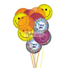 Thank You Balloon Bouquet  Price:  US$39.99  Its generally said that You are not completely dressed without a smile,so why not send smiley Balloons with thanks one & same day balloon gifts delivery