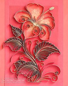 Original papier Quilling Art mur la fleur par QuillingbyLarisa