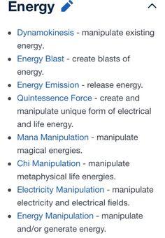 Powers 10/14 (Energy)