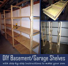 DIY Basement/Garage Shelves with Step-by-Step Instructions